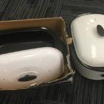 2 white roaster ovens