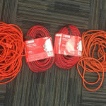 4 Orange Extension Cords